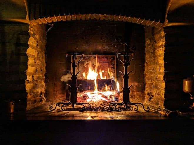 indoor air pollution - fireplace